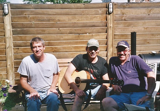 brother Jerry, 'Train Wreck' (center) & brother Jim - Horicon, WI (circa 2004)